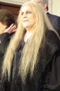 Terele Pávez en el rodaje de Las brujas de Zugarramurdi