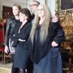 Carolina Bang, Carmen Maura, Alex de la Iglesia, y Terele Pávez en el rodaje de Las brujas de Zugarramurdi