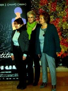 María Izquierdo, Oliva Acosta, y Nona Inés Vilariño en la presentación de Las constituyentes
