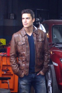 Álex González en el rodaje de Combustión