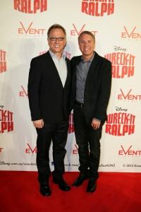 Rich Moore y Clark Spencer en la presentación de ¡Rompe Ralph! en Sydney