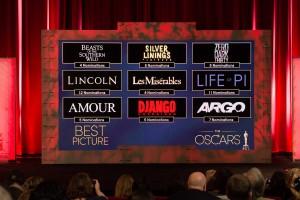 Candidatas a mejor película en Oscars 2013