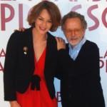 Raphaëlle Agogué y Fernado Colomo en la presentación de La banda Picasso