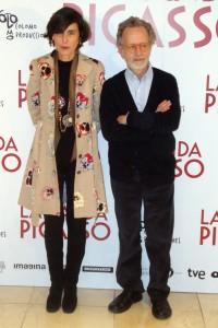 Beatriz de la Gándara y Fernado Colomo en la presentación de La banda Picasso