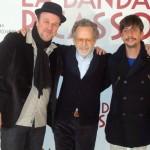 Pierre Bénézit, Fernando Colomo, y Jordi Vilches en la presentación de La banda Picasso