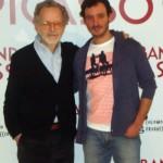 Ignacio Mateos y Fernando Colomo en la presentación de La banda Picasso