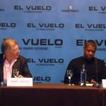 Robert Zemeckis y Denzel Washington en la rueda de prensa de El vuelo (Flight)