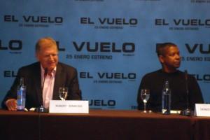 Robert Zemeckis y Denzel Washington en la rueda de prensa de El vuelo (Flight) (2)