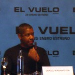 Denzel Washington en la rueda de prensa de El vuelo (Flight)