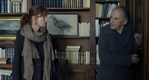 Isabelle Huppert y Jean-Louis Trintignant en Amor (©Brigitte Lacombe)