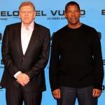 Robert Zemeckis y Denzel Washington en la presentación de El vuelo (Flight) (2)