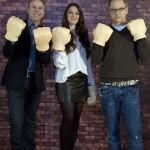 Clark Spencer, Lorelay Bové, y Rich Moore en la presentación de ¡Rompe Ralph! (3)
