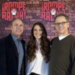 Clark Spencer, Lorelay Bové, y Rich Moore en la presentación de ¡Rompe Ralph! (4)