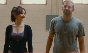Jennifer Lawrence y Bradley Cooper en El lado bueno de las cosas