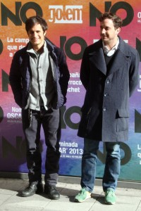 Gael García Bernal y Pablo Larraín en la presentación de No