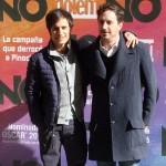 Gael García Bernal y Pablo Larraín en la presentación de No (2)