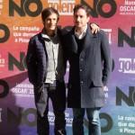 Gael García Bernal y Pablo Larraín en la presentación de No (3)