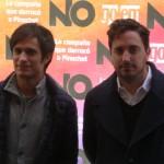 Gael García Bernal y Pablo Larraín en la presentación de No (5)