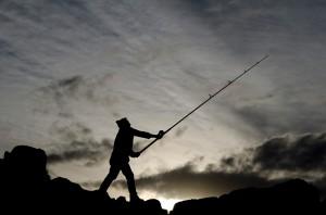 Alejandro Awada en Días de pesca en Patagonia