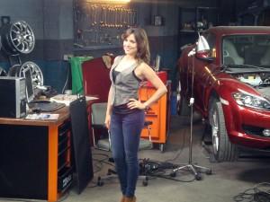 Adriana Ugarte en el rodaje de Combustión (4)