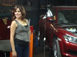 Adriana Ugarte en el rodaje de Combustión (3)