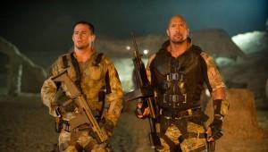 Channing Tatum y Dwayne Johnson en G. I. Joe: La venganza