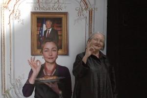 Danièle Delpeuch en la presentación de La cocinera del presidente