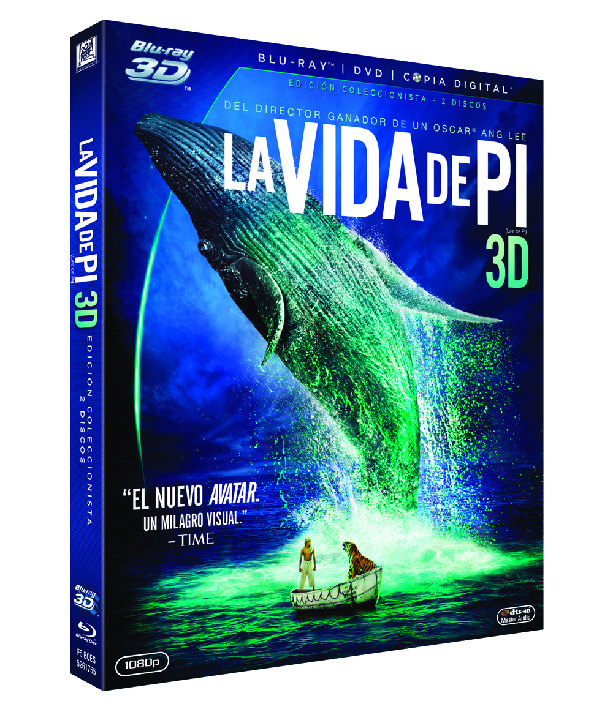 Presentación de La vida de Pi en Blu ray