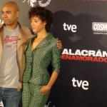 Santiago Zannou y Judith Diakhate en la presentación de Alacrán Enamorado