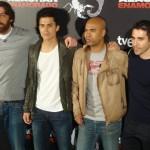 Hovik Keuchkerian, Álex González, Santiago Zannou y Miguel Ángel Silvestre en la presentación de Alacrán Enamorado (2)
