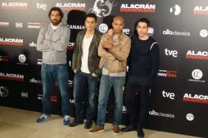 Hovik Keuchkerian, Álex González, Santiago Zannou y Miguel Ángel Silvestre en la presentación de Alacrán Enamorado (3)