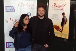 Vânia Catani y Selton Mello en la presentación de El payaso