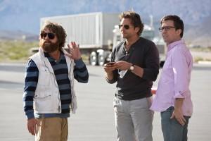 Zach Galifianakis, Bradley Cooper, y Ed Helms en R3sacón