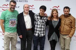 Jesús Monllaó, Jack Taylor, David Solans, Maria Molins, y Julio Manrique en la presentación de Hijo de Caín