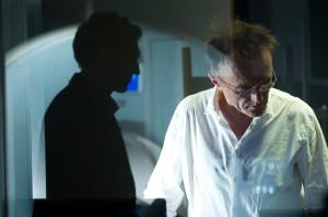 Vincent Cassel y Danny Boyle en el rodaje de Trance