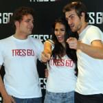 Adam Jezierski, Sara Sálamo, y Raúl Mérida en la presentación de Tres 60 (2)