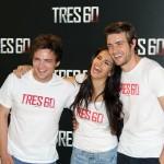 Adam Jezierski, Sara Sálamo, y Raúl Mérida en la presentación de Tres 60 (3)