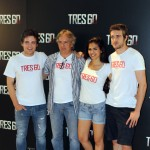 Adam Jezierski, Alejandro Ezcurdia, Sara Sálamo, y Raúl Mérida en la presentación de Tres 60