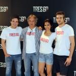 Adam Jezierski, Alejandro Ezcurdia, Sara Sálamo, y Raúl Mérida en la presentación de Tres 60 (2)