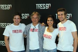 Adam Jezierski, Alejandro Ezcurdia, Sara Sálamo, y Raúl Mérida en la presentación de Tres 60 (3)