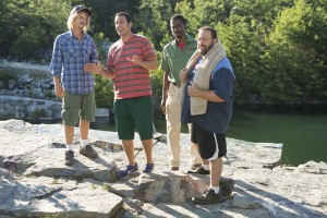 David Spade, Adam Sandler, Chris Rock, y Kevin James en Niños grandes 2