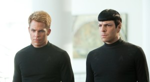 Chris Pine y Zachary Quinto en Star Trek: En la oscuridad