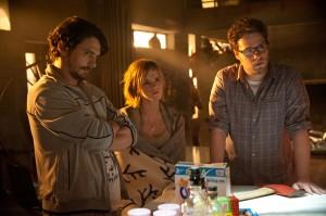 James Franco, Emma Watson, y Seth Rogan en Juerga hasta el fin