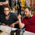 Seth Rogen y Evan Goldberg en el rodaje de Juerga hasta el fin