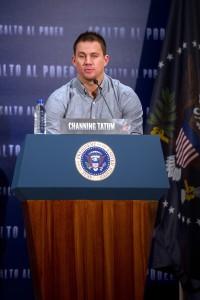 Channing Tatum en la presentación de Asalto al poder (2)