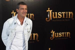 Antonio Banderas en la presentación de Justin y la espada del valor