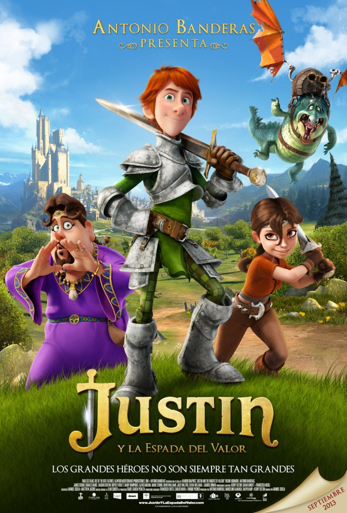 Justin y la espada de valor - Poster final ©2013 KANDOR Graphics S.L. & TM