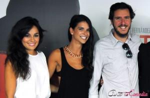 Andrea Dueso, Ana Caldas, y Miguel Larraya en la presentación de Afterparty