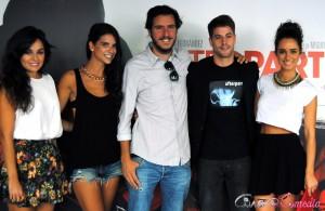 Andrea Dueso, Ana Caldas, Miguel Larraya, Luis Fernández, y Alicia Sanz en la presentación de Afterparty