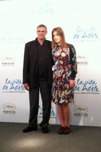 Abdellatif Kechiche y Adèle Exarchopoulos en la presentación de La vida de Adèle (2)